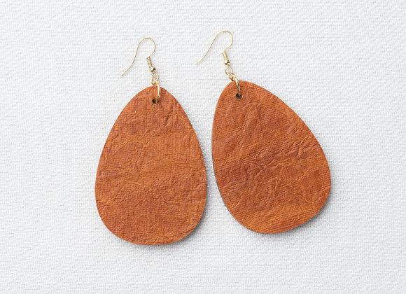 Rust Leather-Look Teardrop