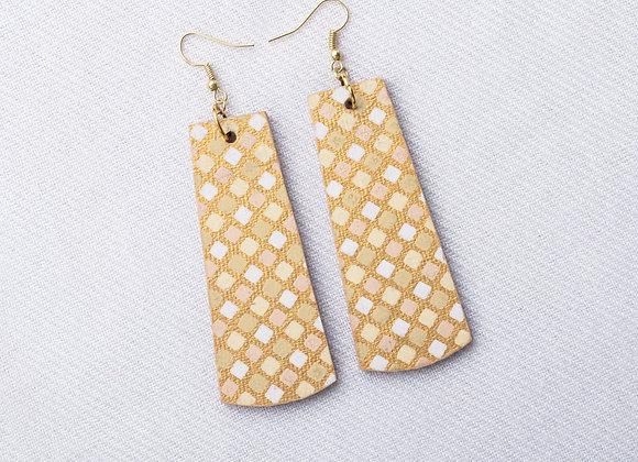 Gold & Pastel Grid Rectangle