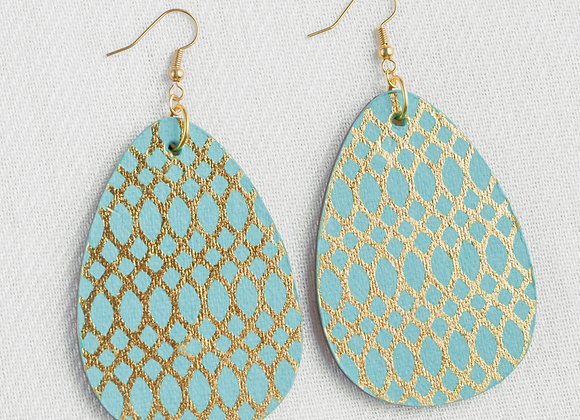 Teal and Gold Teardrop