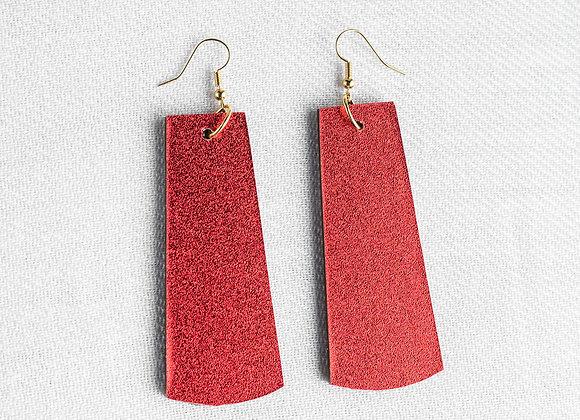 Red Shimmer Rectangle