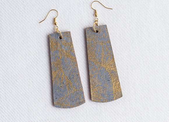Slate and Gold Rectangle