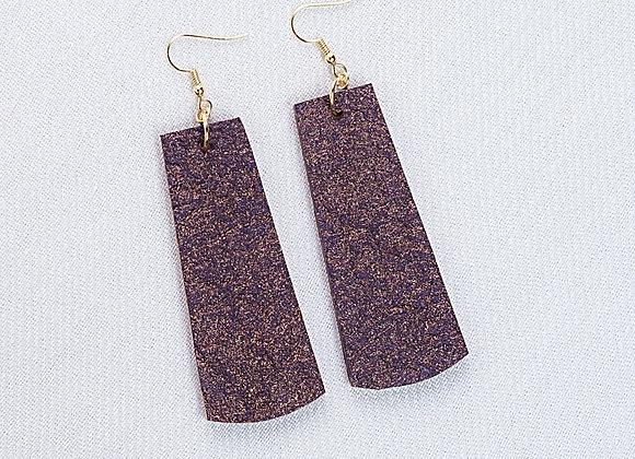 Eggplant Glitter Rectangle