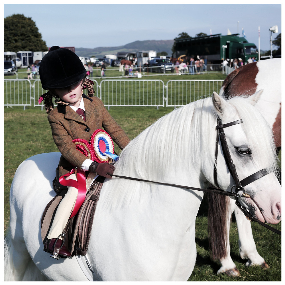 A young rider at Stokesley Show, North Yorkshire. UK.