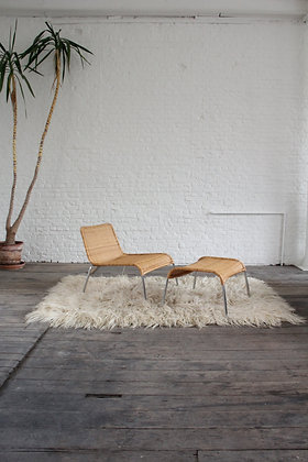 Rattan Easy Chair and hocker