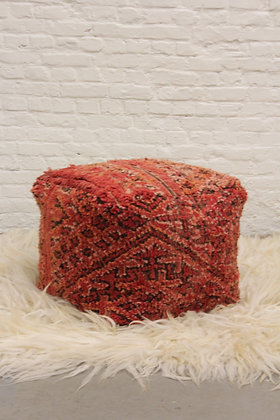 High Pouf Red I