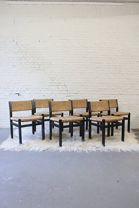 Set of 6 dining chairs, by Martin Visser '60