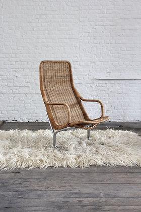 Rattan Lounge chair by Dirk Van Sliedregt, '60