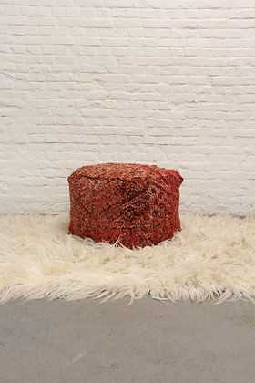 High Pouf Red II