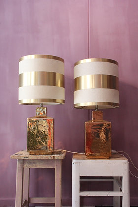 Pair of Golden table lamps