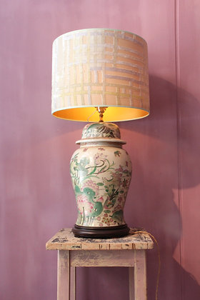 Antique English table lamp, Chinoiserie