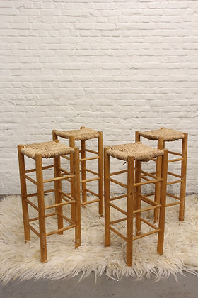 Set of 4 Charlotte Perriand style Bar Stools
