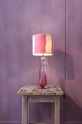 Cute lamp, Val Saint Lambert, with Ikat shade