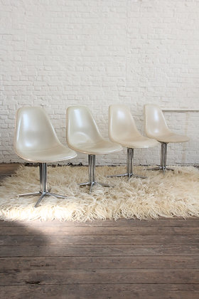 Set of 4 'La Fonda' chairs by Charles & Ray Eames, '60