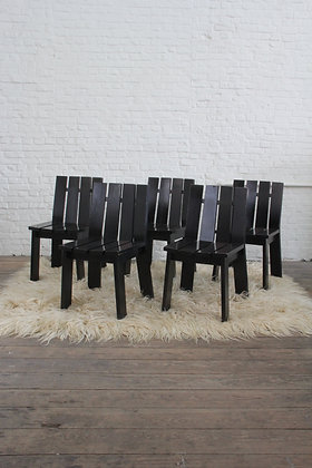 Set of 5 Brutalist dining chairs