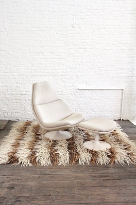 Lounge Swivel Chair F510, with hocker by Geoffrey Harcourt for Artifort, '60
