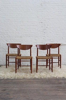Set of 4 dining chairs by P. Hvidt and O. Molgaard-Nielsen