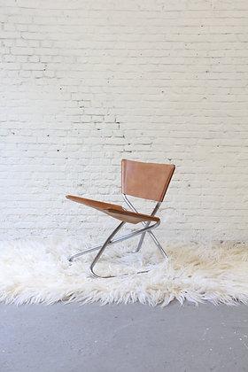 Cognac leather Z-chair by Erik Magnussen, 60's