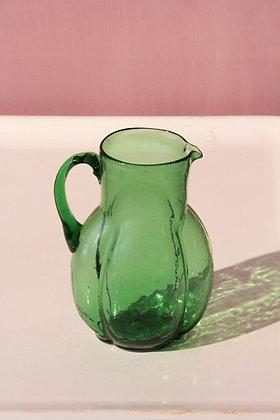 Green Syrian Carafe, Art Deco