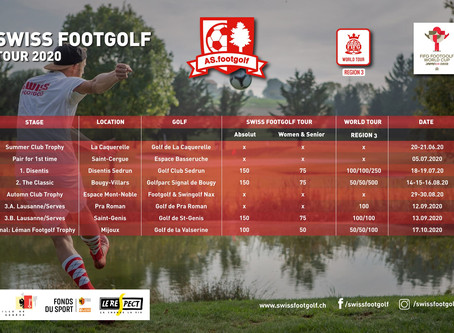 Calendrier Swiss Footgolf Tour 2020