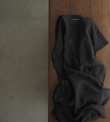 linen boatneck pulloverdress