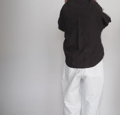 linen shawl collar shirt