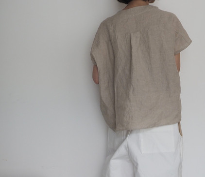 linen  french sleeve shirt