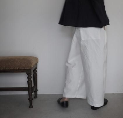 cotton linen straight pants