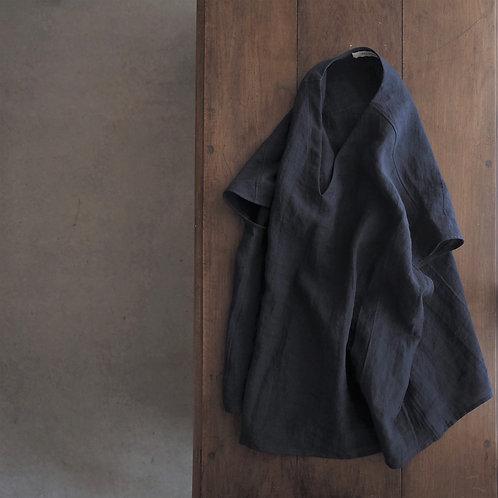 #188-22 ベルギーリネンフレンチスリーブムササビシャツ