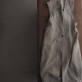 linen long vest