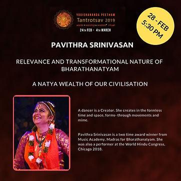 Tantrotsav Pavithra Srinivasan Dance