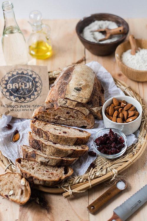 Pan de arándanos y almendras