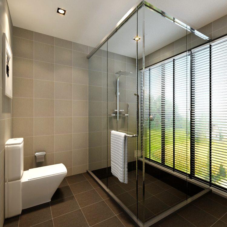 Design Salle Bains Moderne Avec Toilettes Cabine Douche