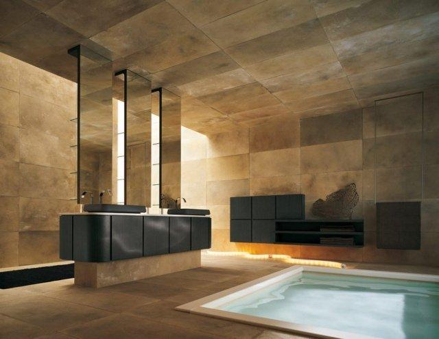Beau Design Salle Bains Luxe Bain Remous Pierre Naturelle