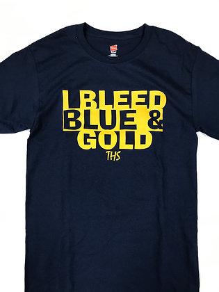 Turlock I Bleed Blue & Gold Tee - TB053