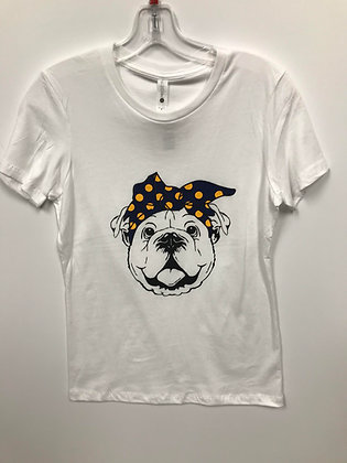 Turlock Bulldog with Bandana Women's Tee - TB533