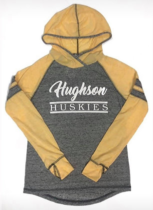 Hughson Huskies Women's Long Sleeve Thin Hoodie - HH175