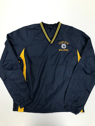 Turlock Bulldogs V-Neck Long-Sleeve Wind Shirt - TB077