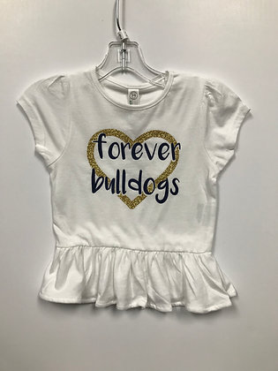 Turlock Glitter Forever Bulldogs Toddler/Girls' Shirt - TB506