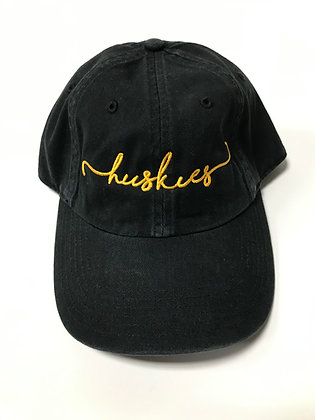 Hughson Huskies Script Dad Hat - HH162