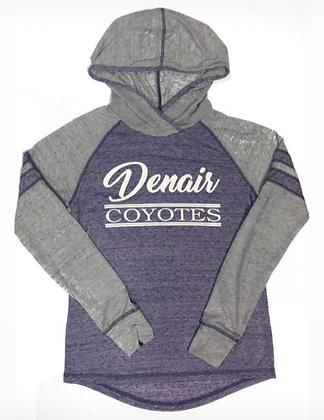 Denair Coyotes Women's Long Sleeve Thin Hoodie - DC121
