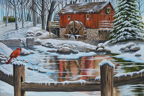 WINTER AT THE SAW MILL