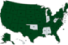 Map of U.S.A. where Westie Whispers puppies live live