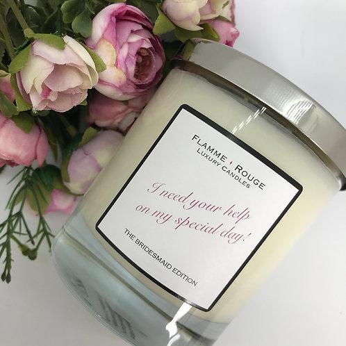 Bridesmaid Proposal Candle