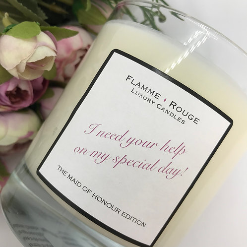 Maid of Honour Proposal Candle