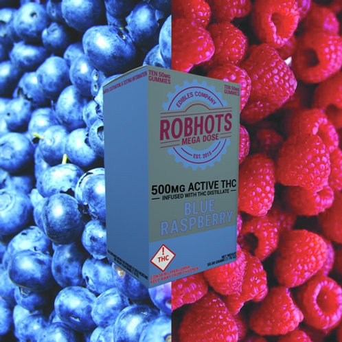 Robhots - Blue Raspberry 500mg Gummies