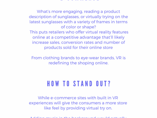 Virtual reality in E-commerce
