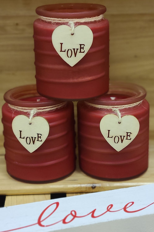Frosted Love Valentine's Candles