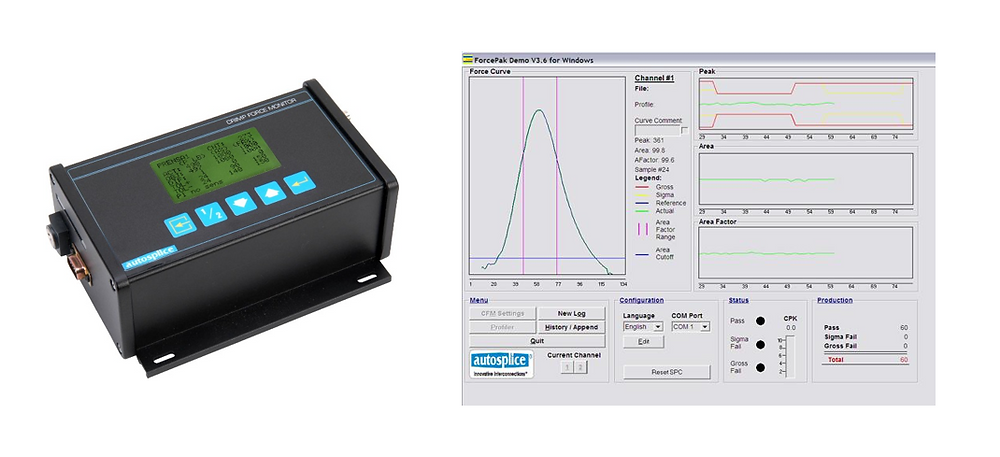 Crimp Force Monitor System for quality analysis of shape memory alloy wire crimp