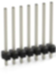 0.81 solder tail single row vertical terminal header