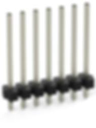0.81 solder tail single row vertical pin header